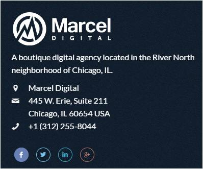 marcel digital footer